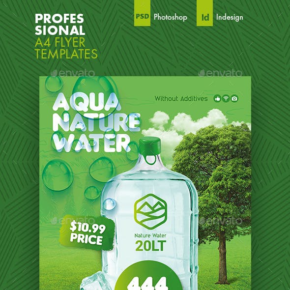 Drinking Water Flyer Templates