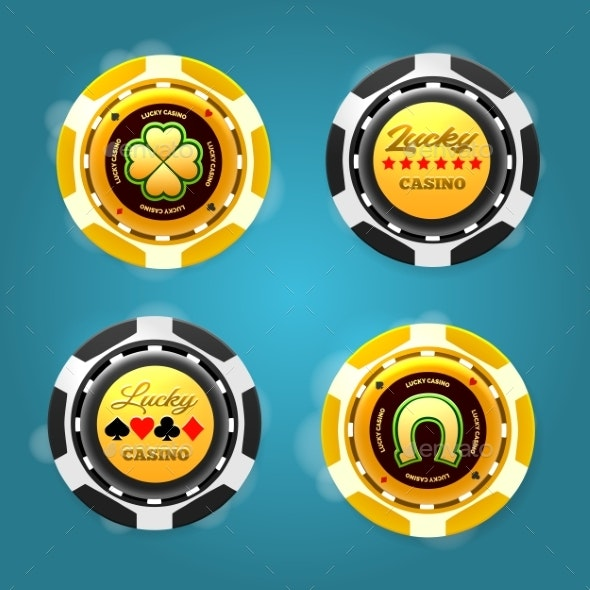 Lucky Poker Chips By Vectortatu Graphicriver