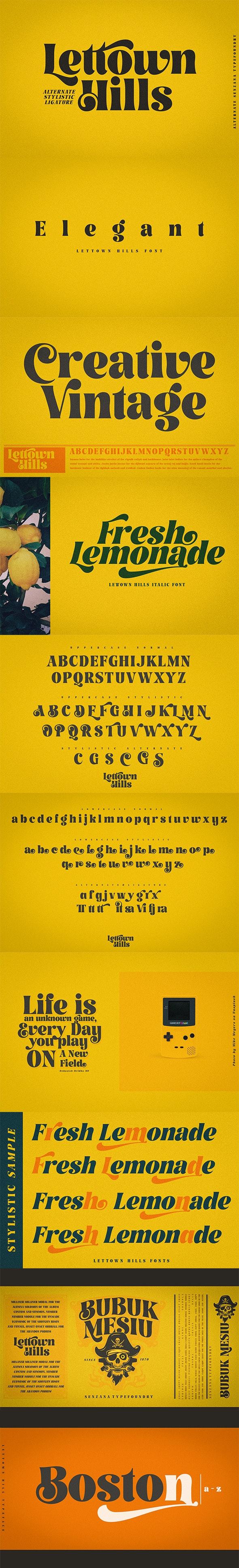 Lettown Hills - Fancy Fonts