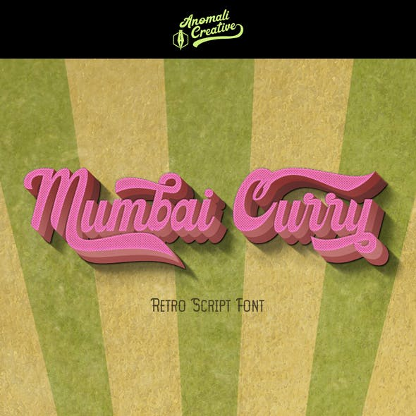 Mumbai Curry Retro Vintage Font