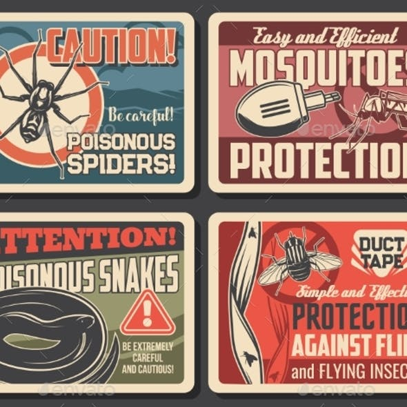 Mosquito and Flies Protection, Snakes and Spider