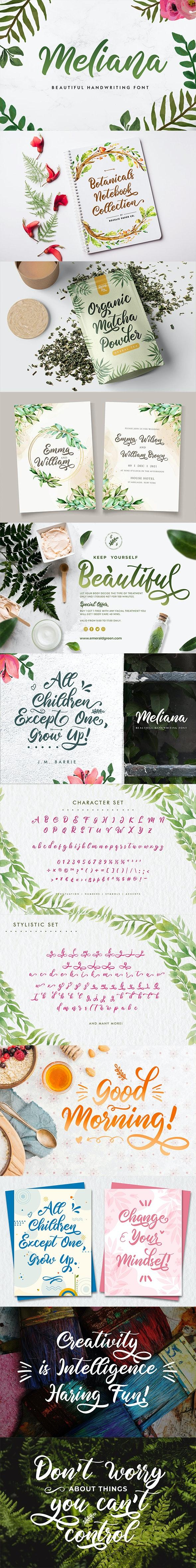 Meliana Script - Hand-writing Script