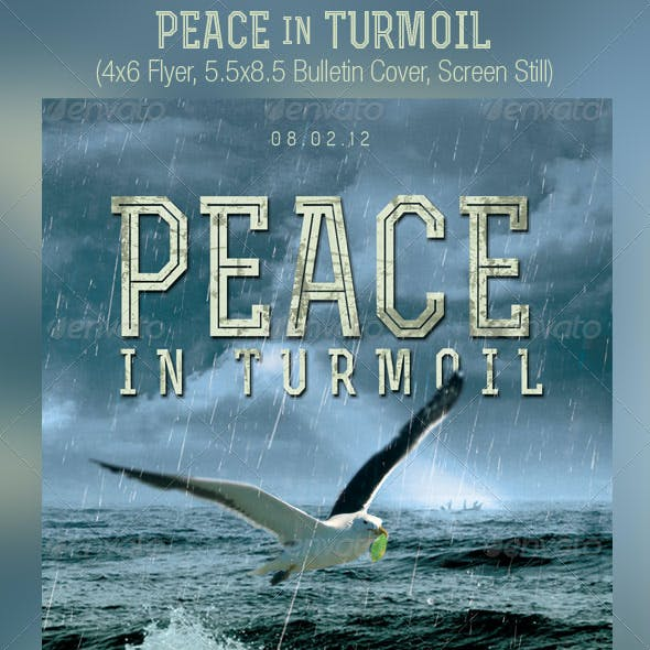 Peace Turmoil Flyer Bulletin Cover Template
