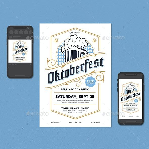 Oktoberfest Festival Flyer Set