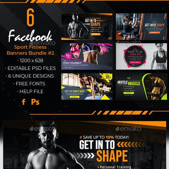 Facebook Sport Fitness Banners