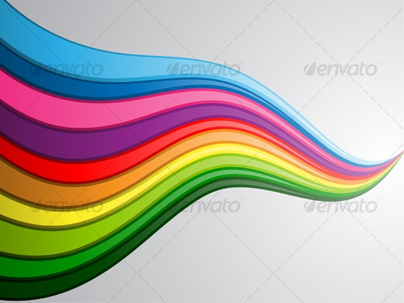 Colorful Wave Background - Backgrounds Decorative
