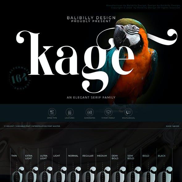 Kage - An Elegant Serif Typeface