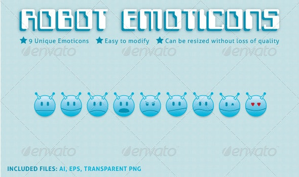Robot Emoticons - Characters Icons