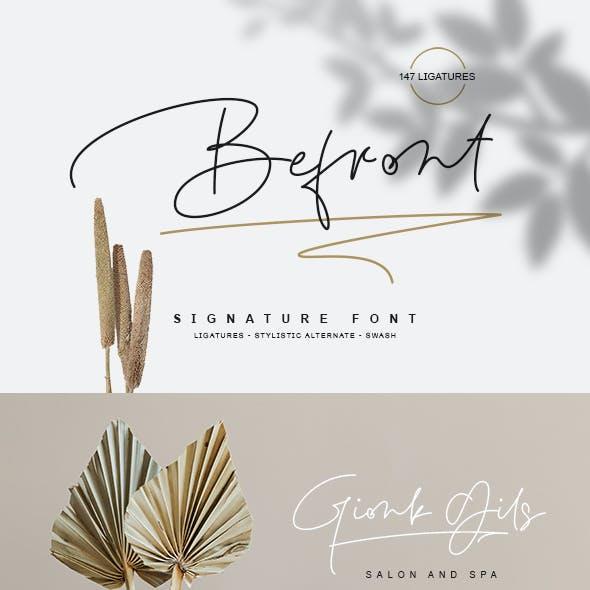 Befront Signature Font