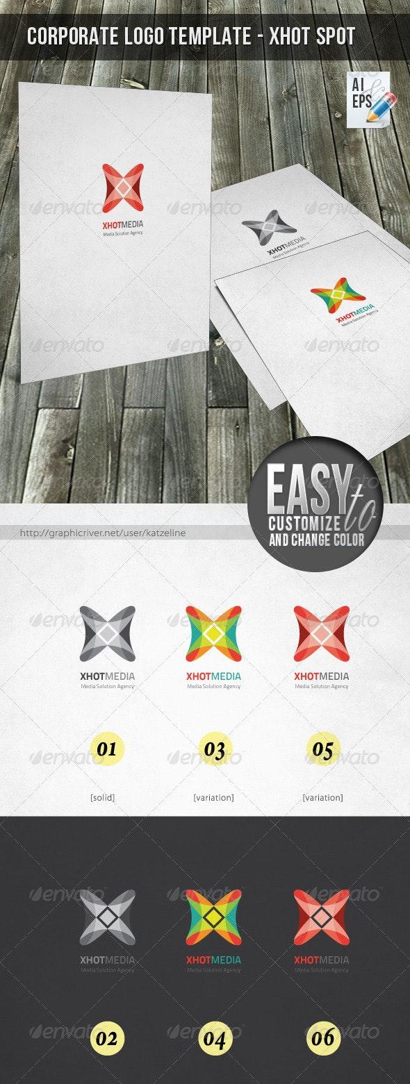 Corporate Logo - Xhot Media - Vector Abstract