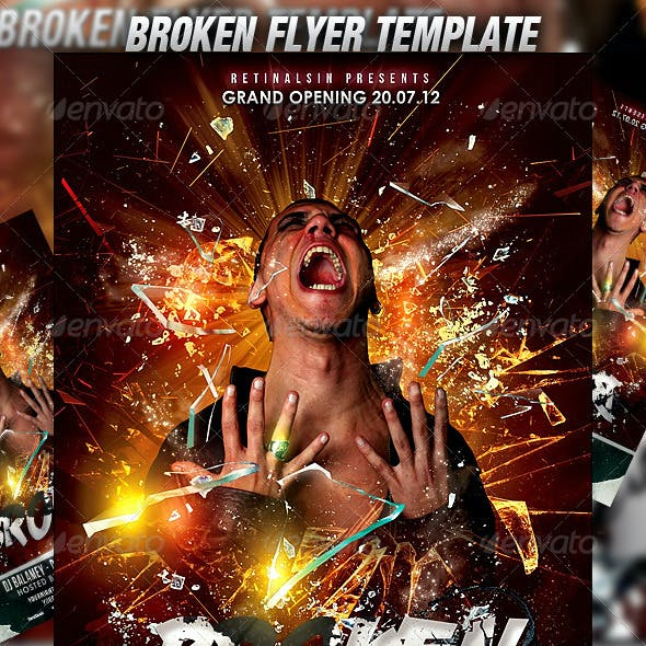 Broken Flyer Template