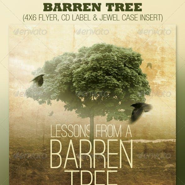 Barren Tree Church Flyer and CD Template