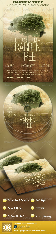 Barren Tree Church Flyer and CD Template - Church Flyers