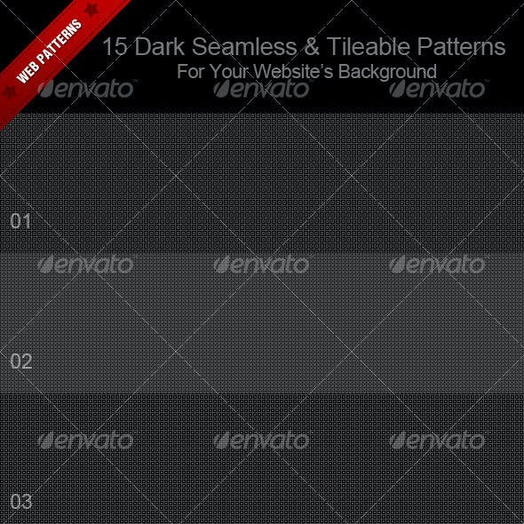 15 Dark Seamless & Tileable Patterns  For Your Web