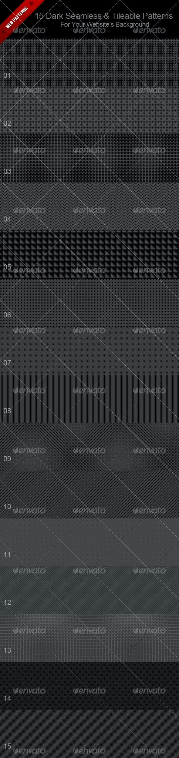 15 Dark Seamless & Tileable Patterns  For Your Web - Patterns Backgrounds