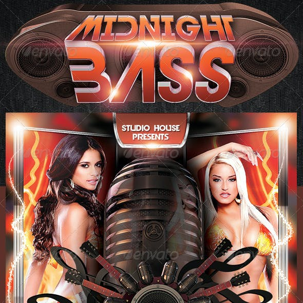 Midnight Bass Party flyer