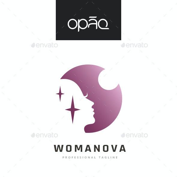 Woman Circle Night Logo