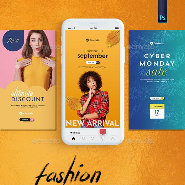 Fashion Instagram Banner Pack