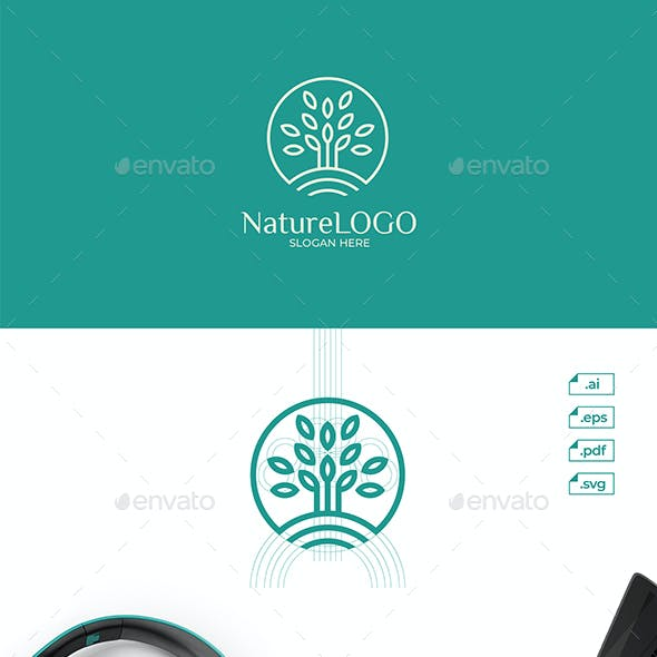 Nature Tree Leaf Logo Design