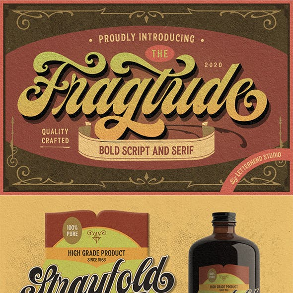 Fragtude - Vintage Display Typeface
