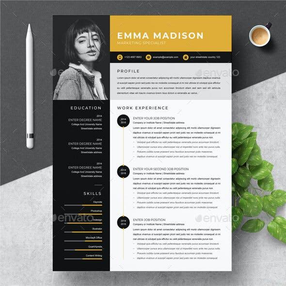 Modern Yellow Resume
