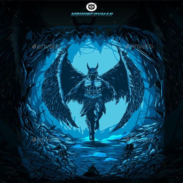 The Devil In Fantasy World Design Illustration