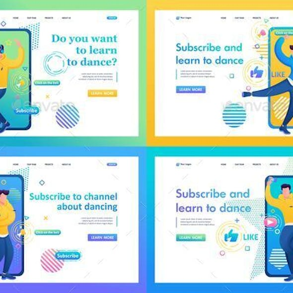 Set of Web About Channels With Dance Training For Young People