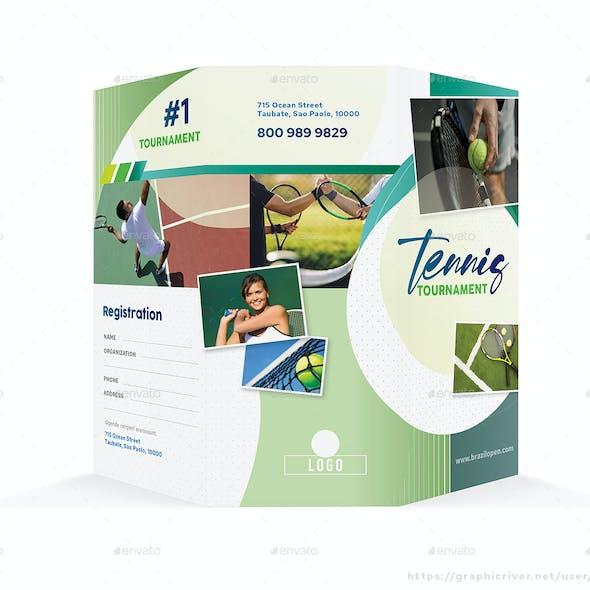 Tennis Tournament Trifold Brochure