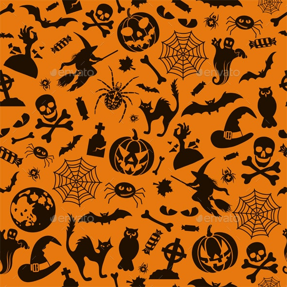 Seamless Halloween Pattern - Halloween Seasons/Holidays