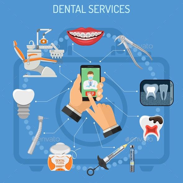 Online Dentistry Concept - Health/Medicine Conceptual