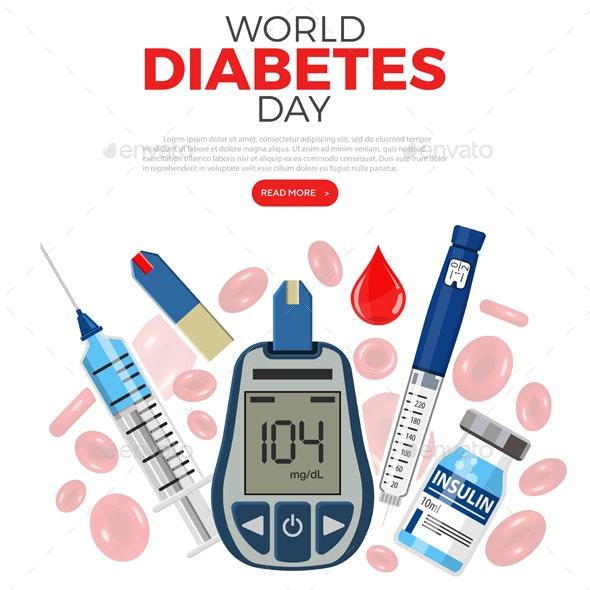 World Diabetes Day Concept - Health/Medicine Conceptual
