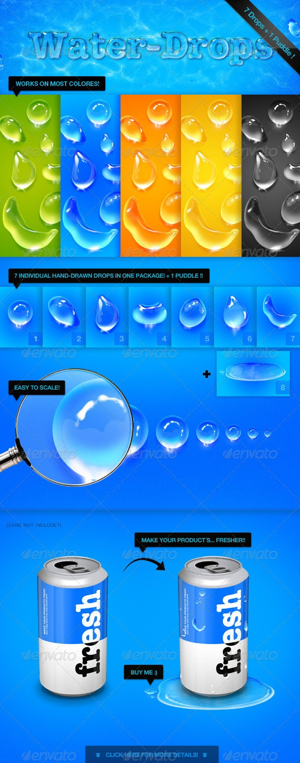Fresh Water Drops - Pack - Miscellaneous Illustrations