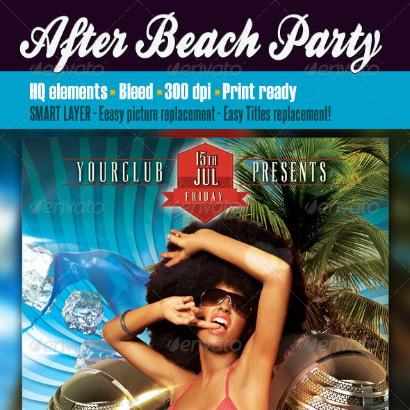 After Beach Party Flyer
