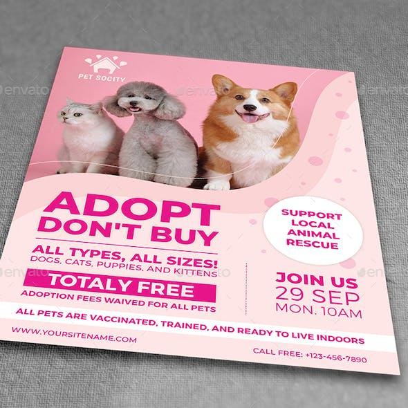 Pet Adoption Flyer Template