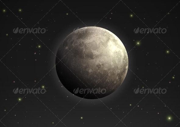Realistic Moon - Nature Conceptual
