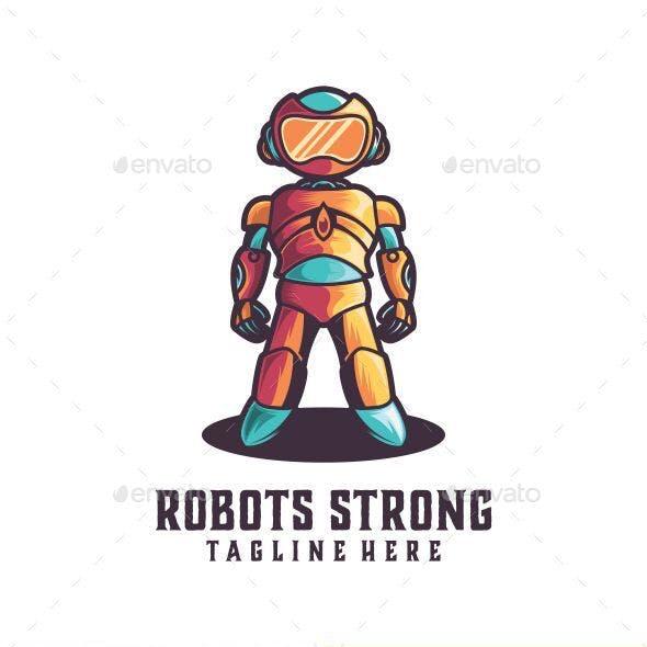 Robots Strong Logo Template