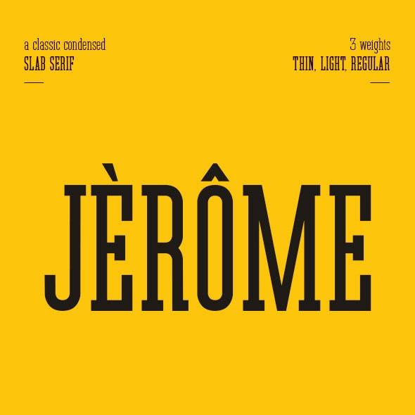 Jerome - Condensed Slab Serif