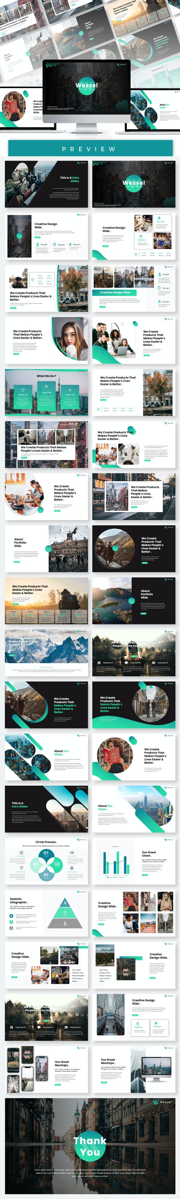 Wessel Presentation Templates - Business PowerPoint Templates