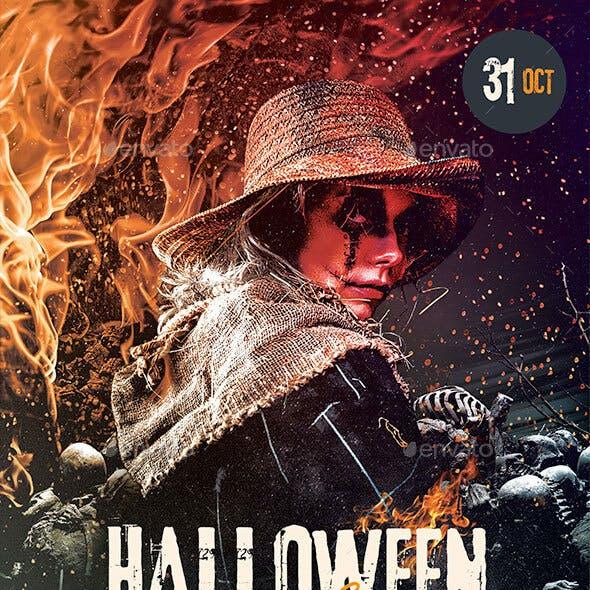 Halloween Fire Flyer