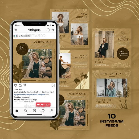 Vintage Fashion Instagram Template