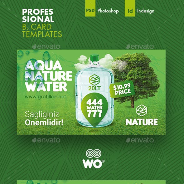 Drinking Water Business Card Templates