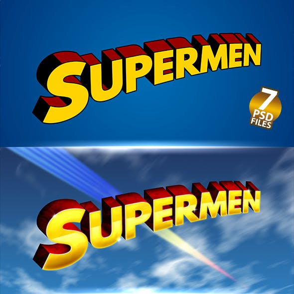 SUPERMEN | Text-Effects/Mockups | Template-Package