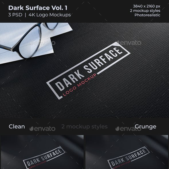 Dark Surface Logo Mockup Vol 1