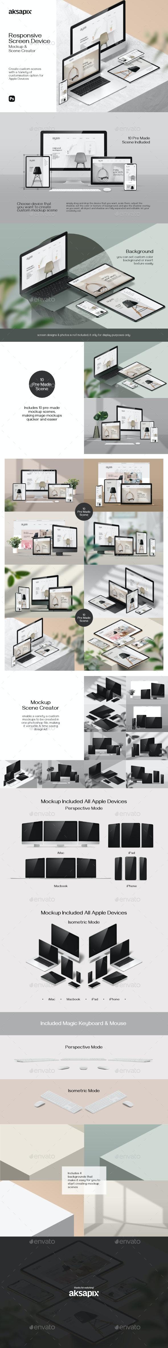 Responsive Screen Device - Mockup Scene Creator