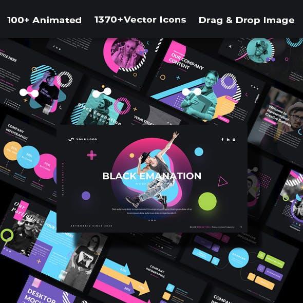 Black Emanation - Presentation Google Slide Template