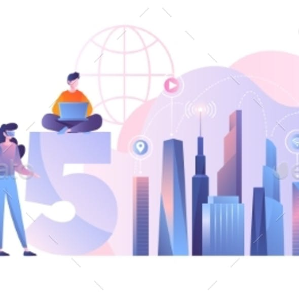 5G Network Concept in City Environment