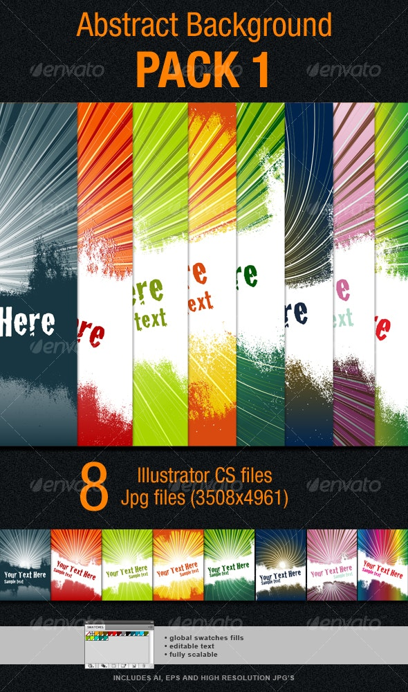 Abstract Background Pack 1 - Backgrounds Decorative
