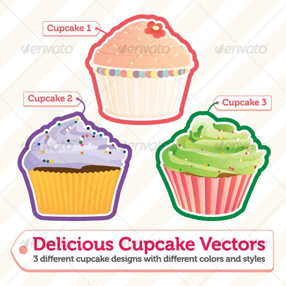 Delicious Cupcakes - Food Objects