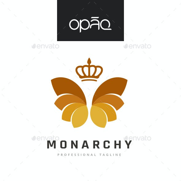 Monarchy Blooming Crown Logo