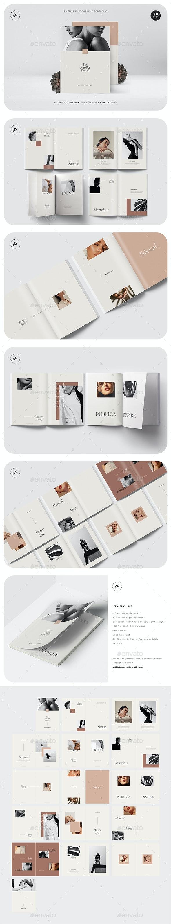 Amellia Photography Portfolio - Magazines Print Templates